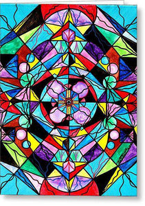 Sacred Geometry Grid - Greeting Card