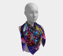Load image into Gallery viewer, Blue Ray Self Love Grid - Scarf