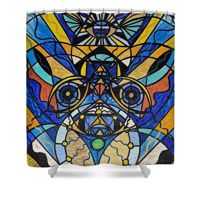 Sirian Solar Invocation Seal - Shower Curtain