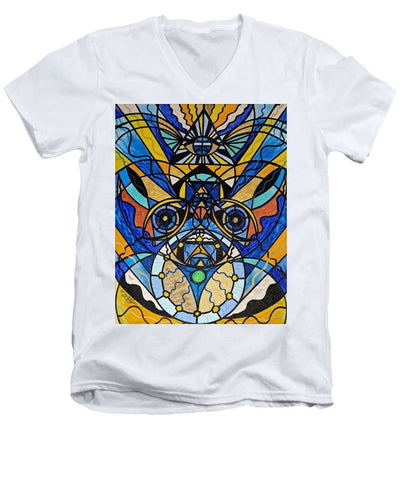 Sirian Solar Invocation Seal - Men's V-Neck T-Shirt