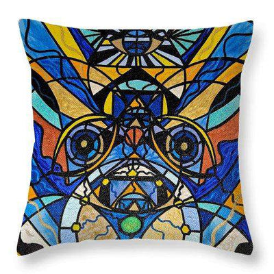 Sirian Solar Invocation Seal - Throw Pillow