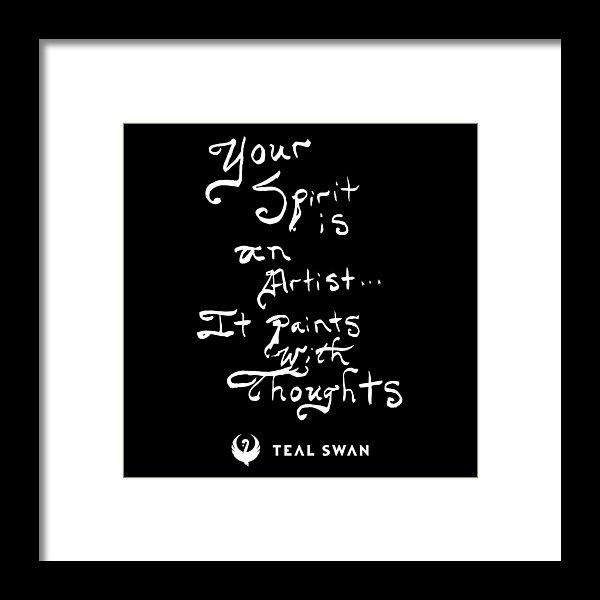 Spirit Is Quote - Framed Print