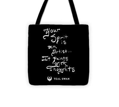 Spirit Is Quote - Tote Bag