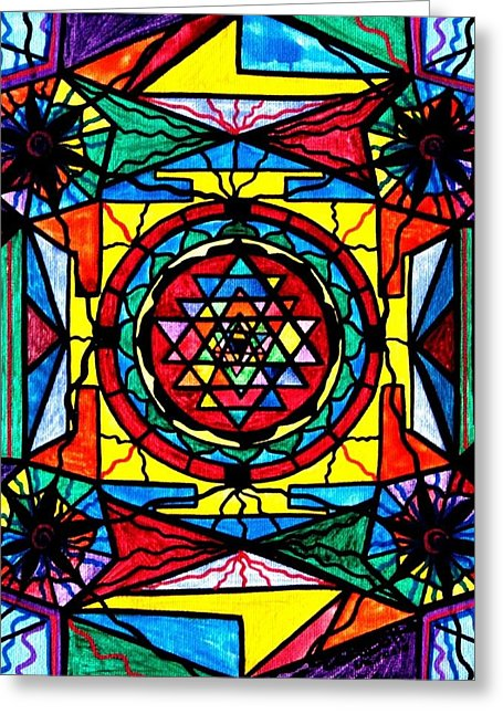 Sri Yantra - Greeting Card