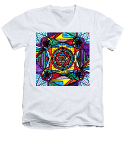 Sri Yantra - Men's V-Neck T-Shirt