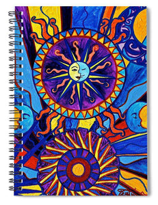 Sun And Moon - Spiral Notebook