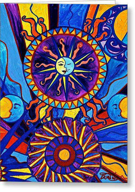 Sun And Moon - Greeting Card
