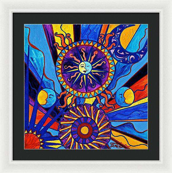 Sun And Moon - Framed Print