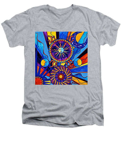 Sun And Moon - Men's V-Neck T-Shirt