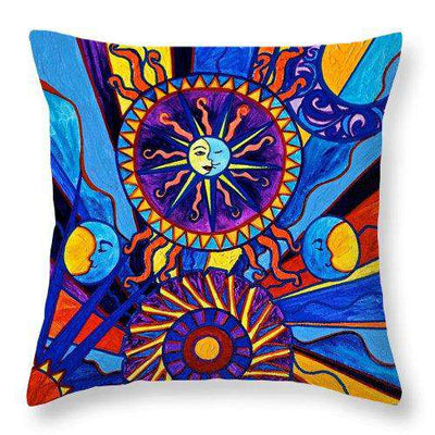Sun And Moon - Throw Pillow