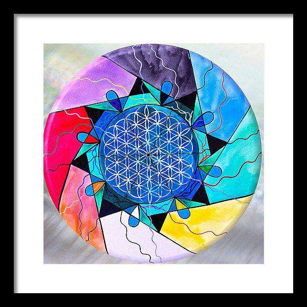 The Flower Of Life - Framed Print