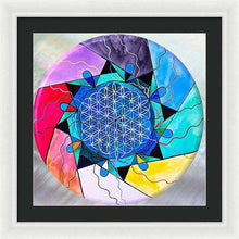 Load image into Gallery viewer, The Flower Of Life - Framed Print