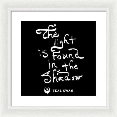 The Light Quote - Framed Print