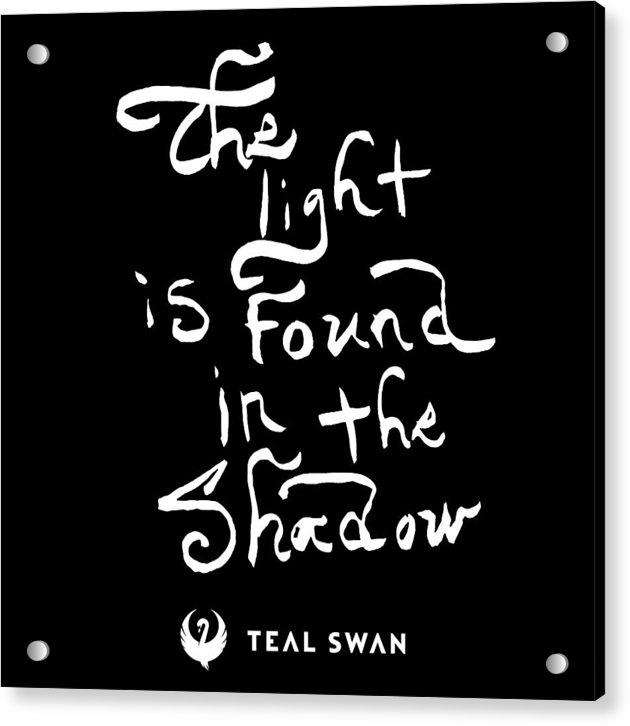 The Light Quote - Acrylic Print