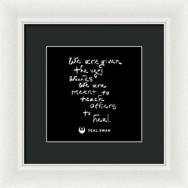 The Very Wounds Quote - Framed Print