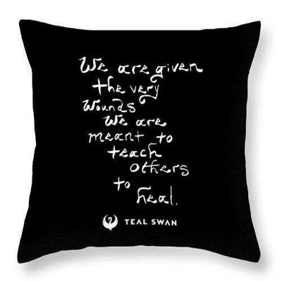 The Very Wounds Quote - Throw Pillow