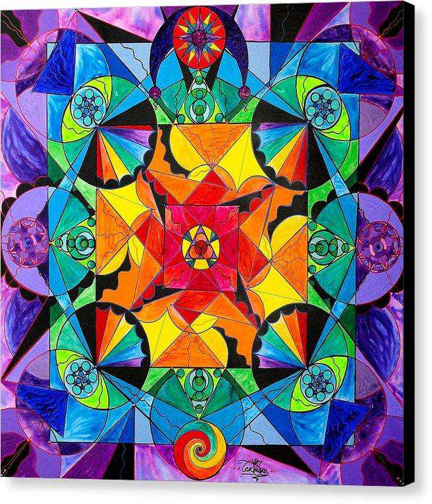 The Way - Arcturian Blue Ray Grid - Canvas Print
