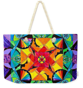The Way - Arcturian Blue Ray Grid - Weekender Tote Bag