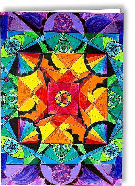 The Way - Arcturian Blue Ray Grid - Greeting Card