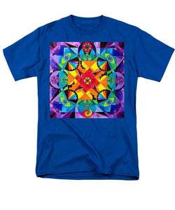The Way - Arcturian Blue Ray Grid - Men's T-Shirt  (Regular Fit)