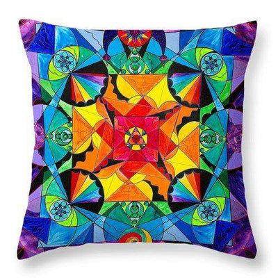 The Way - Arcturian Blue Ray Grid - Throw Pillow