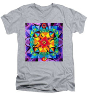 Load image into Gallery viewer, The Way - Arcturian Blue Ray Grid - Men's V-Neck T-Shirt
