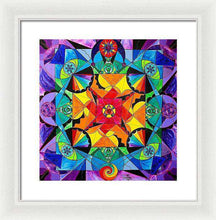 Load image into Gallery viewer, The Way - Arcturian Blue Ray Grid - Framed Print