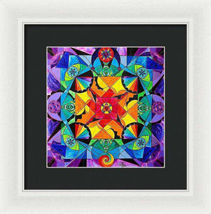 The Way - Arcturian Blue Ray Grid - Framed Print