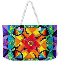 Load image into Gallery viewer, The Way - Arcturian Blue Ray Grid - Weekender Tote Bag