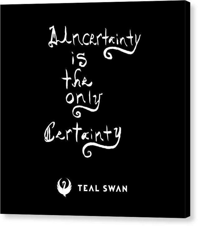 Uncertainty Quote - Canvas Print
