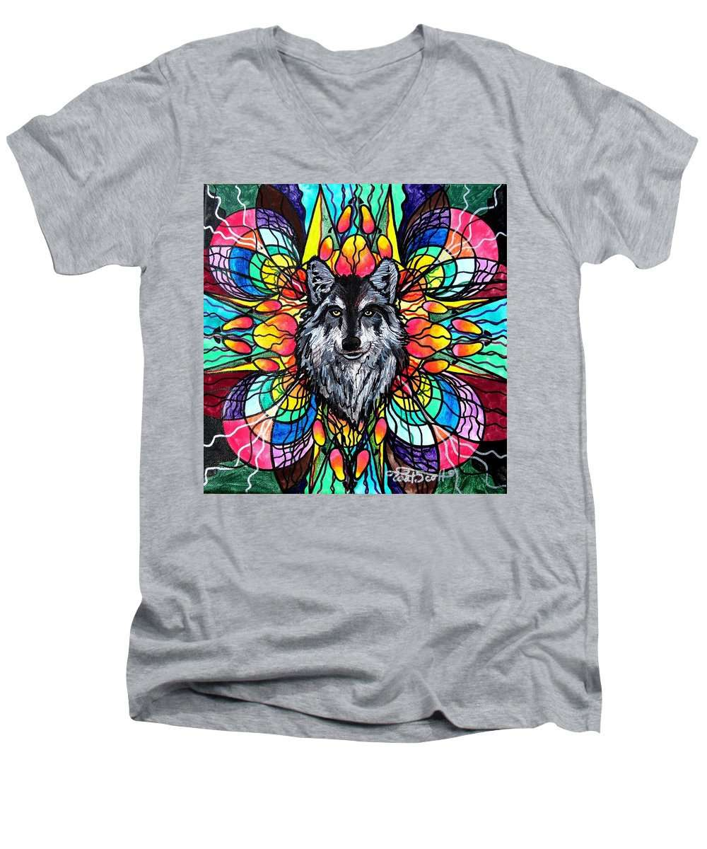 Wolf - Men's V-Neck T-Shirt