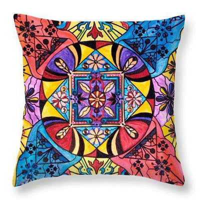 Worldly Abundance - Throw Pillow