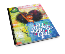 Load image into Gallery viewer, BeYouTiFul Princess Spiral Notebook