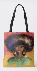 Watercolor Fro Tote