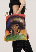 Load image into Gallery viewer, Watercolor Fro Tote