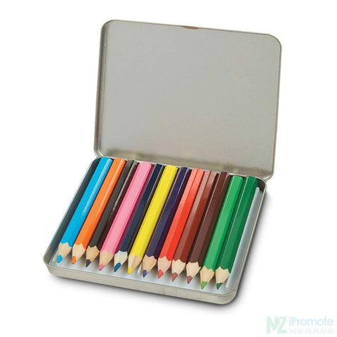 Image of 12 Piece Coloured Mini Pencil Set