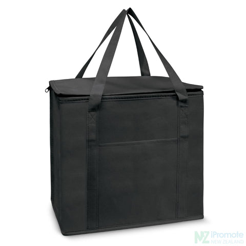 19L Zippered Cooler Tote Black Bag