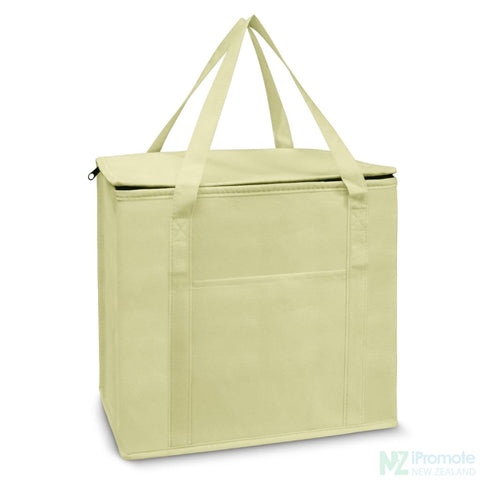 19L Zippered Cooler Tote Natural Bag