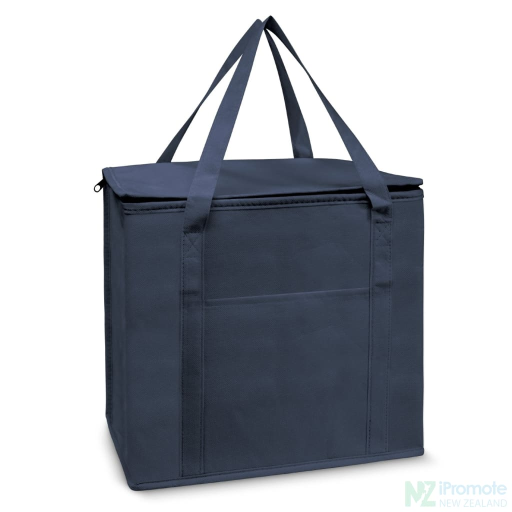 19L Zippered Cooler Tote Navy Bag