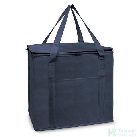 Image of 19L Zippered Cooler Tote Navy Bag