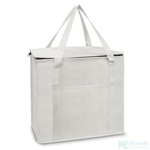 19L Zippered Cooler Tote White Bag