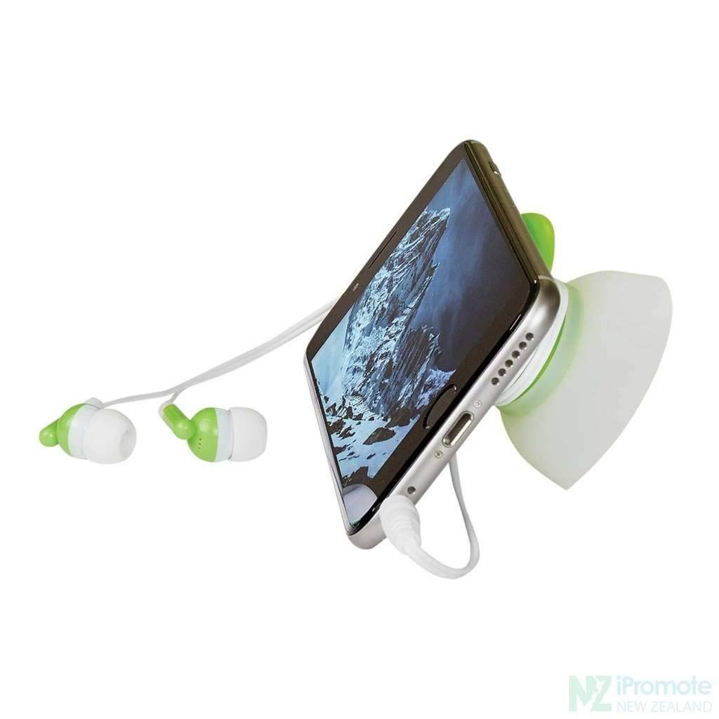 2 In 1 Earbuds With Holder And Phone Stand
