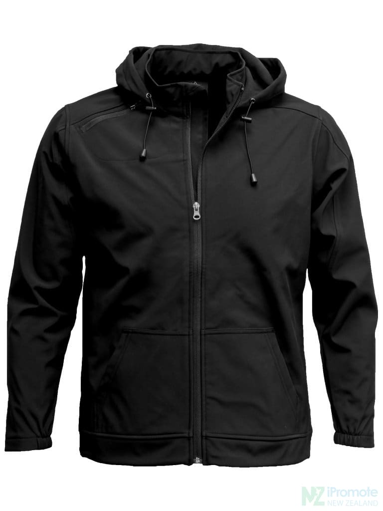 3K Soft Shell Hooded Jacket Black / S Jackets