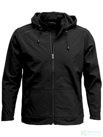 Image of 3K Soft Shell Hooded Jacket Black / S Jackets