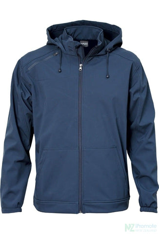 Image of 3K Soft Shell Hooded Jacket Navy / S Jackets