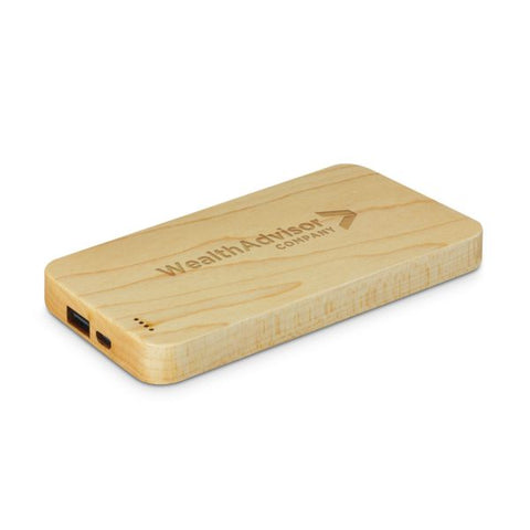 4000mAh Laminated Wood Powerbank