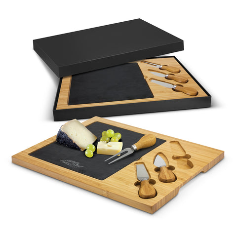 Bamboo and Slate Cheese Board