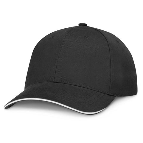 Image of Black Cap with Coloured Trim