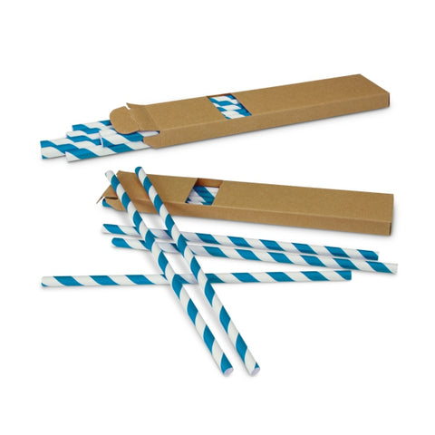 Image of Colourful Unbleached Retro Paper Straws