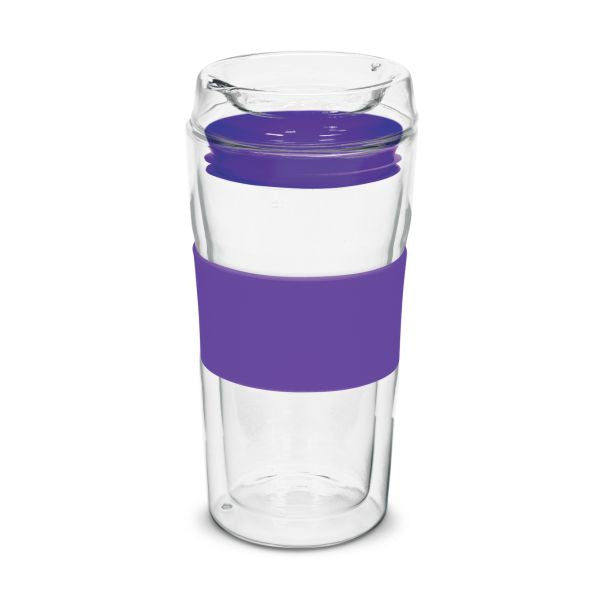 Double Wall 350ml Glass Cup